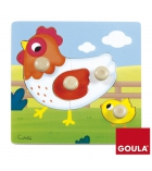 Puzzle d'encastrement GOULA 4 pièces la poule - dès 1 an
