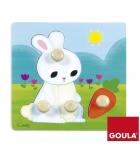 Puzzle d'encastrement GOULA 4 pièces le lapin - dès 1 an