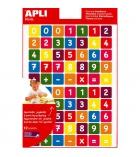 """Pochette de 840 gommettes APLI adhésives enlevables """"Chiffres couleurs"""""""