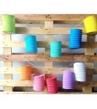Lot de 30 lampions en papier de soie à décorer 13 x 17 cm - 10 coloris assortis