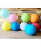 Lot de 10 lanternes en papier de soie à décorer Ø 20 cm - 10 coloris assortis