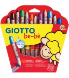 Etui de 12 maxi crayons de couleurs GIOTTO Bébé