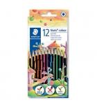 Boîte métal de 12 crayons de couleur STAEDTLER Woopex - assortis