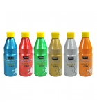 Lot de 6 flacons de peinture acrylique PEBEO Acrycolor pailletée - 500 ml