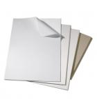 Lot de 10 feuilles de carton plat - épaisseur 1,5 mm - 40 x 50 cm