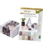 Bloc de 12 feuilles de papier A4 à motif Design Hotfoil - 165g