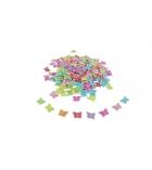 Bocal de 600 perles papillons en plastique - 15 x 12 mm - multicolore