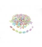 Bocal de 360 perles olives plates plastique - 16x10 mm - multicolore