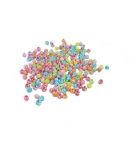 Bocal de 500 perles rondes spirales plastique - Ø 8mm - multicolore