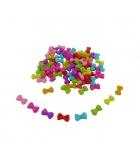 Bocal de 200 perles noeur en plastique - multicolore