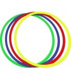 Lot 10 cerceaux plats en plastique - Ø 60 cm - coloris assortis