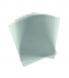 Paquet de 100 plats de couvertures transparents incolores - A4 - épaisseur 20/100e