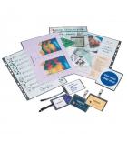 Boîte de 100 pochettes de plastification pour carte de visite - 67 x 99 mm - 125 microns par face