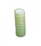 Tube de 8 adhésifs transparents - 19 mm x 33 m