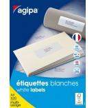 Boîte de 100 feuilles A4 - 1600 étiquettes multiusages adhésives APLI - 119012 - 105 x 37 mm