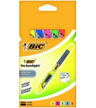 Pochette de 5 surligneurs BIC - Highlighter Technolight - assortiment