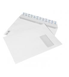 Boîte de 250 enveloppes auto-adhésives - 229 x 324 mm - fenêtre 50 x 105 - 100 g