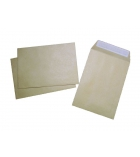 Boîte de 50 pochettes auto-adhésives kraft - 162 x 229 mm - sans fenêtre - 90 g