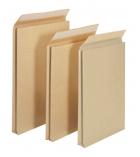 Paquet de 50 pochettes auto-adhésives kraft brun armé - 260 x 330 -sans fenêtre -130 g - soufflet 50