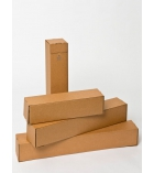 Lot de 20 tubes postaux carrés en carton GPV - côté 10,5 cm longueur 43 cm pour A2