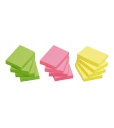 Lot de 12 blocs repositionnables - 50 x 40 mm - assortiment
