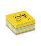 Bloc cube POST-IT - 450 feuillets - 76 x 76 mm - multicolores