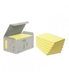 Lot de 6 blocs POST-IT - recyclés 76 x 127 mm - jaune