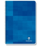 Cahier spirale CLAIREFONTAINE - 8722C - 100 pages - 17 x 22 cm - 5 x 5