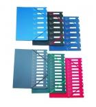 Trieur couverture polypro intérieur carte EXTENDOS à élastique - 12 compartiments