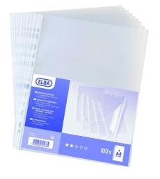 Sachet de 100 pochettes grainées perforées 5/100e - A4