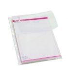Sachet de 10 pochettes PVC porte plan - soufflet 2 cm
