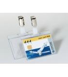 Boîte de 25 badges rigides pour 1 carte DURABLE - avec clip - 54 x 85 mm