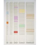 Bande de planning 54 fentes pour fiches T NOBO - 95,5 cm - indice 3