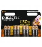 Lot de 8 piles DURACELL - Plus Power - LR6 - AA