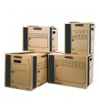 Lot de 10 cartons de déménagement FELLOWES Cargo Box - charges lourdes 35 x 37 x 66 cm