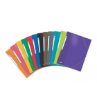 Lot de 24 chemises 3 rabats élastique A4 ELBA Colorlife pelliculées - assortiment