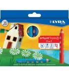 Etui de 12 crayons de couleur LYRA Groove Triple One