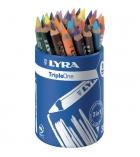 Pot de 36 crayons de couleur LYRA Triple One
