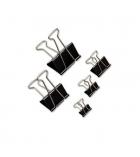 Boîte de 12 pinces métal double clip - 32 mm