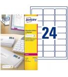 Boîte de 240 étiquettes multiusages pour timbre AVERY L7159 - 33,9 x 63,5 mm
