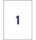 Pochette de 5 étiquettes jet d'encre magnétiques imprimables AVERY - J8867-5 - A4 - blanc