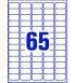 Boîte de 1625 étiquettes laser transparentes AVERY - L7551 - 38,1 x 21,2 mm