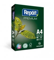 Carton de 5 rames 500 feuilles papier SUZANO Report A4 80g - blanc