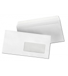 Boîte de 500 enveloppes auto-adhésives - 110 x 220 mm - fenêtre 45 x 100 - 75 g