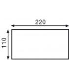 Boîte de 500 enveloppes auto-adhésives 110 x 220 mm - sans fenêtre - 80 g