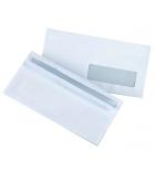 Boîte de 500 enveloppes autocollantes - 110 x 220 mm - fenêtre 35 x 100 - 80 g