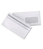 Boîte de 500 enveloppes autocollantes - 110 x 220 mm - fenêtre 45 x 100 - 80 g