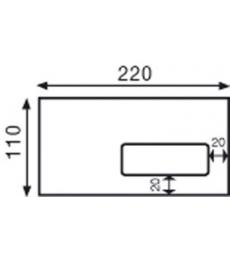 Boîte de 500 enveloppes auto-adhésives 110 x 220 mm - fenêtre 45 x 100 - 80 g