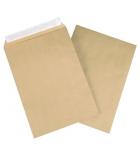 Boîte de 500 pochettes auto-adhésives kraft milleraie - 162 x 229 mm - sans fenêtre - 90 g