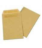 Boîte de 500 pochettes autocollantes kraft - 176 x 250 mm - sans fenêtre - 90 g